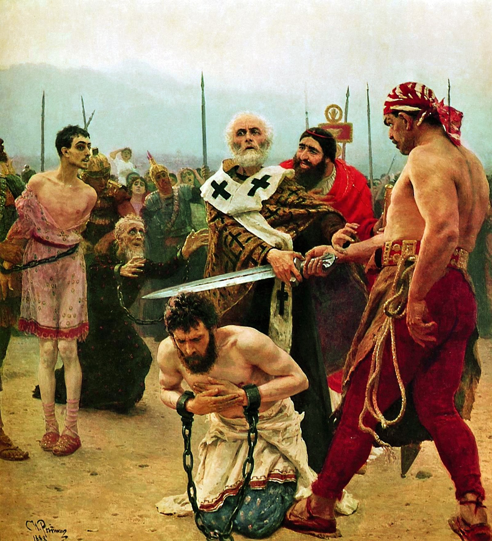 00 Ilya Repin. St Nicholas Prevents the Falsely-Accused from Being Executed. 1889