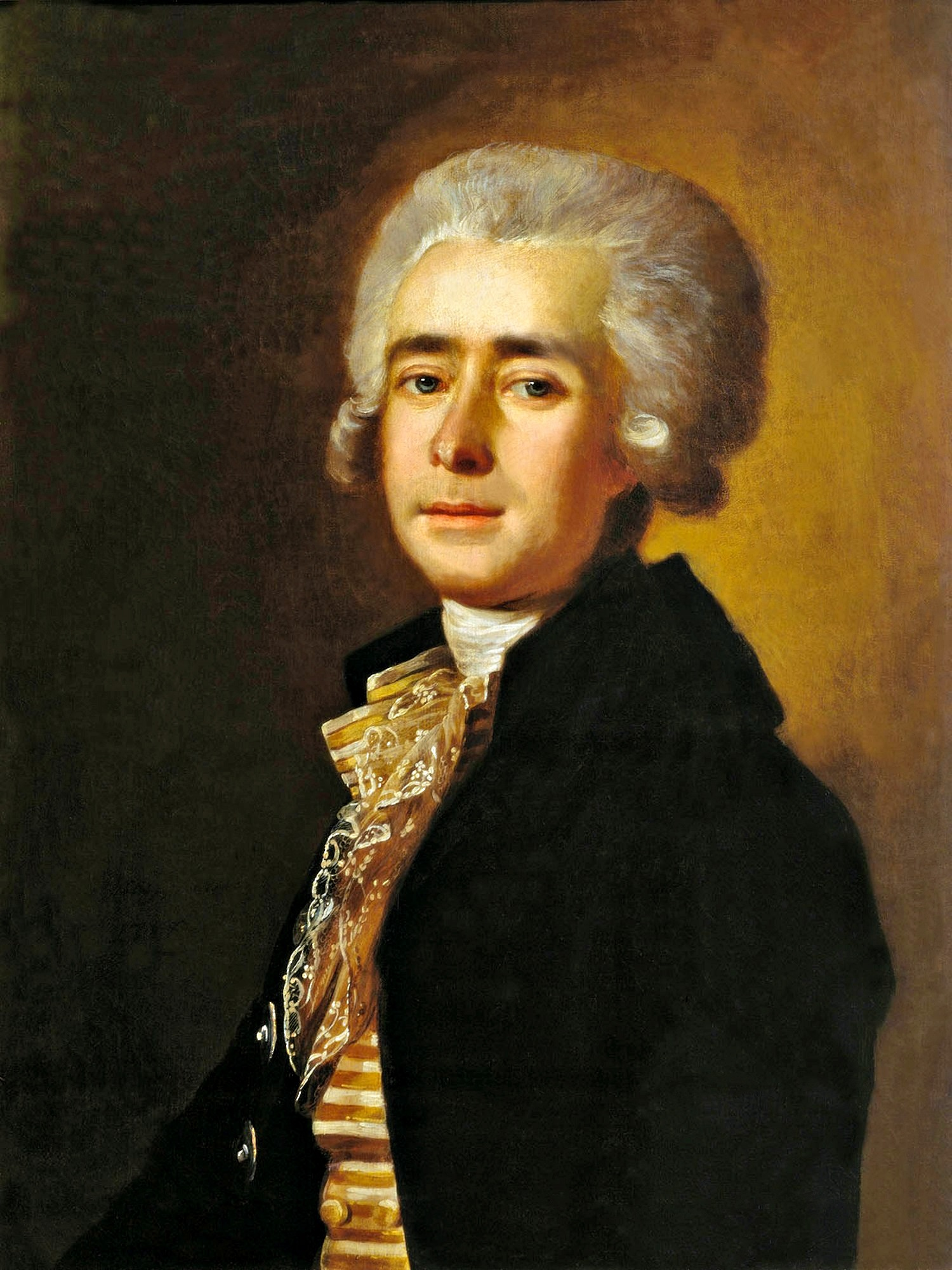 00 Mikhail Belsky. A Portrait of the Composer Dmitri Stepanovich Bortnyansky. 1788
