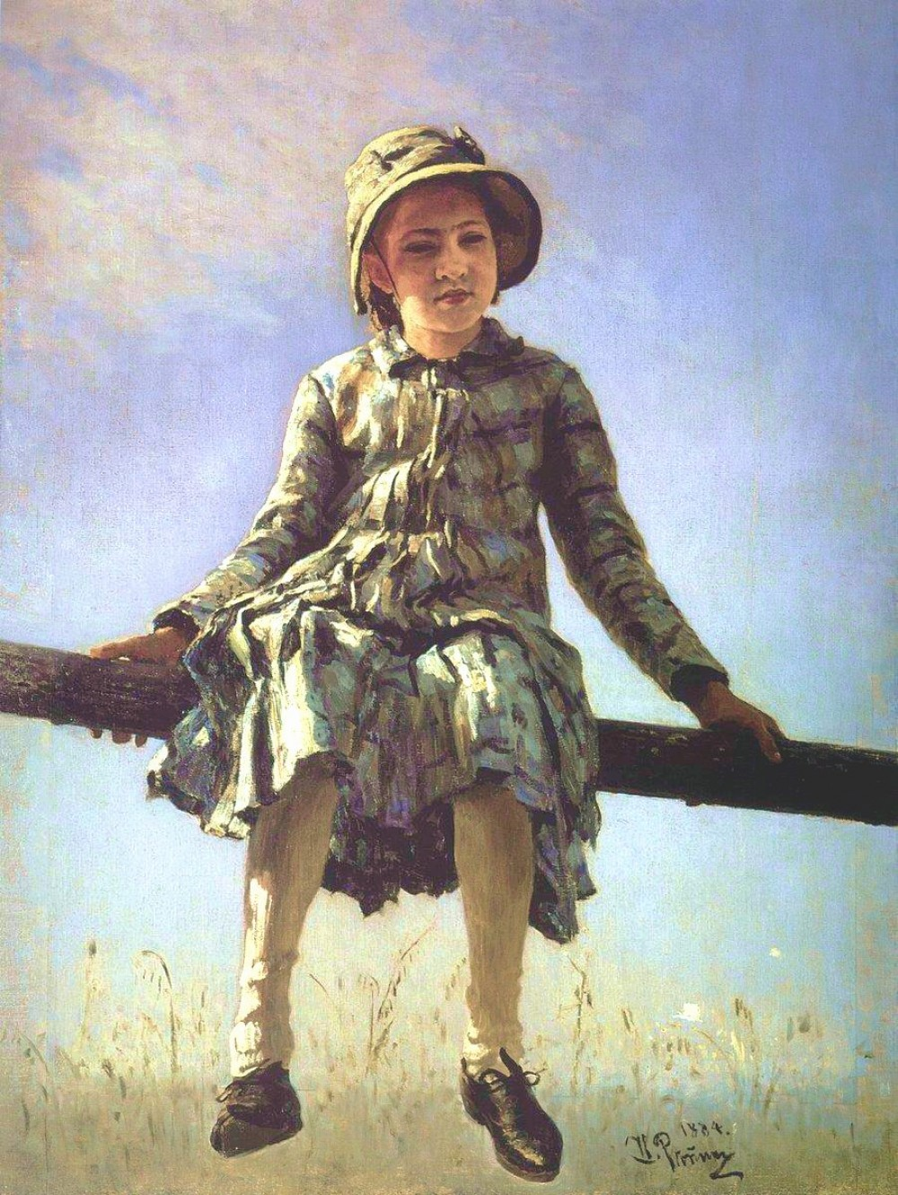 2-ilya-repin-grasshopper-portrait-of-nadezhda-repina-the-artists-daughter-1884