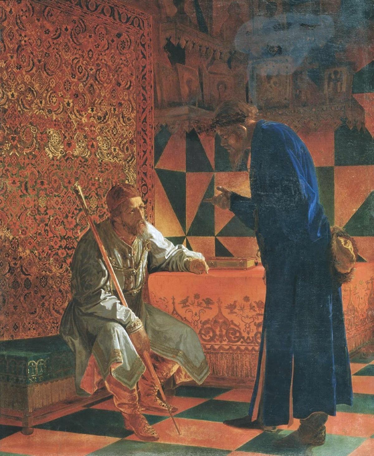 Grigori Sedov. Ivan Grozny and Malyuta Skuratov. 1871