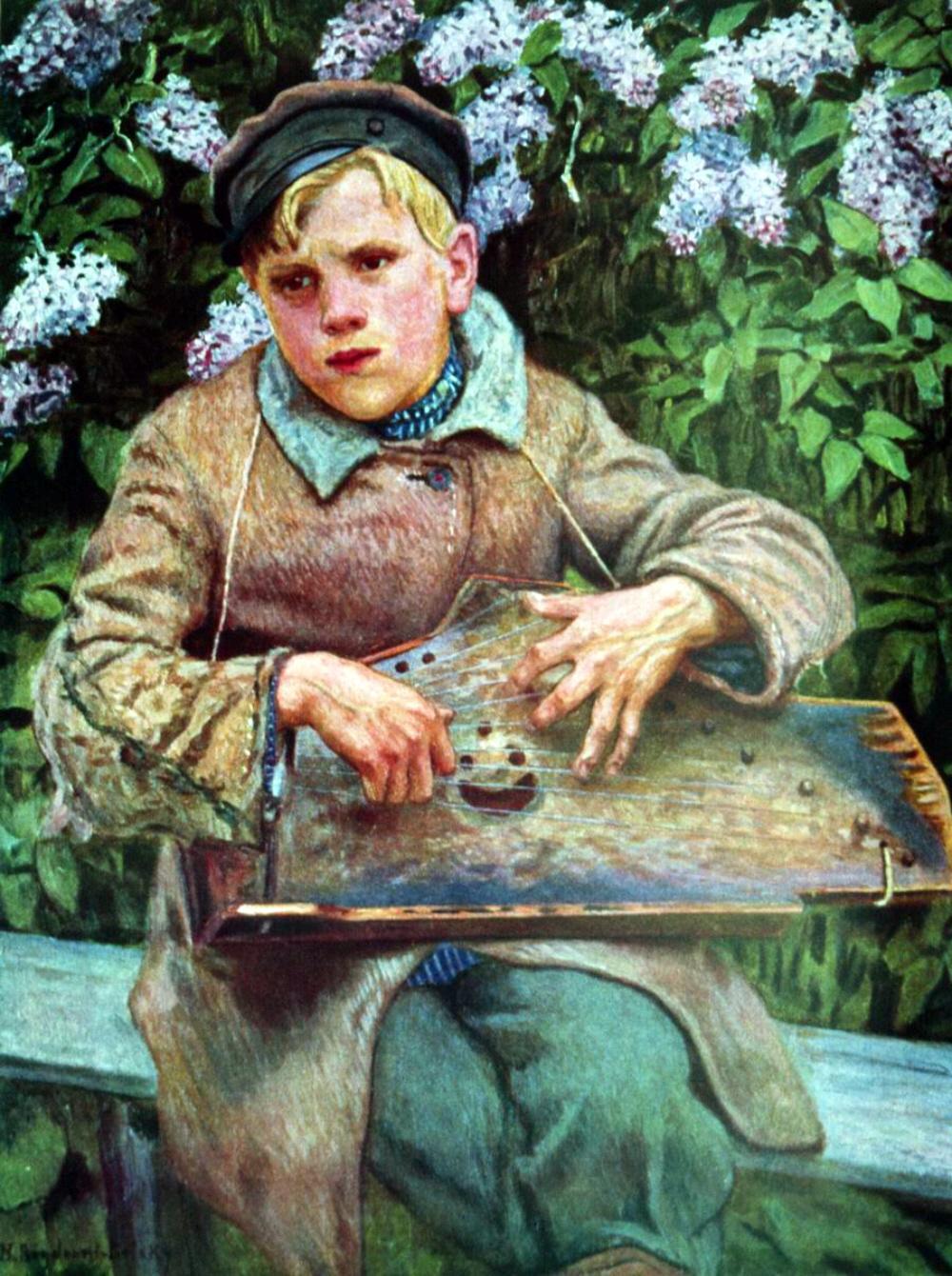 Nikolai Bogdanov-Belsky. A Young Musician. 1920s