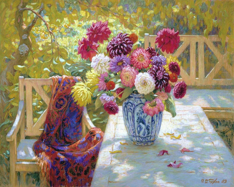 Oleg Shtykhno Autumn Flowers From The Garden 2003 Art