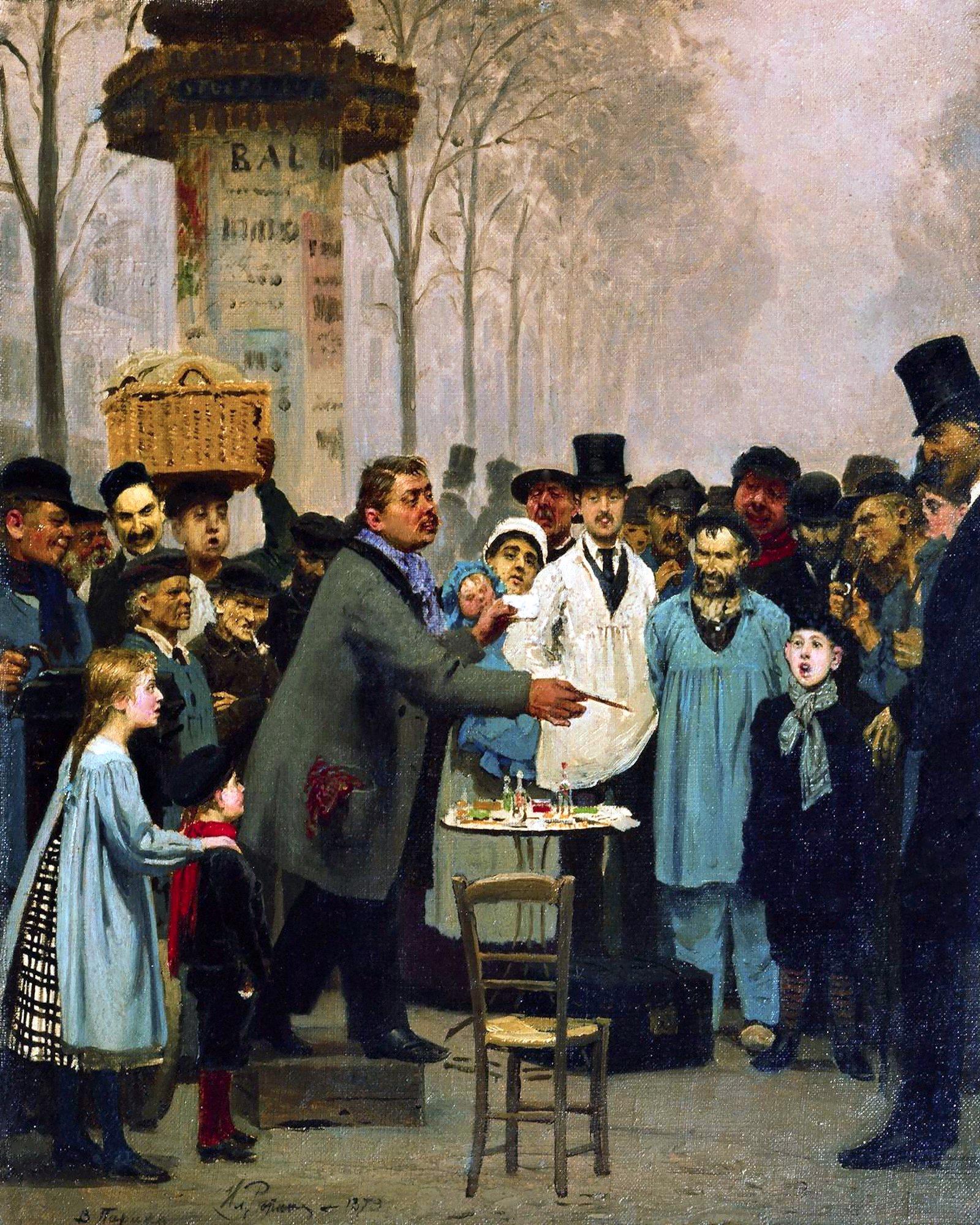 00 Ilya Repin. A Newspaper Vendor in Paris. 1873
