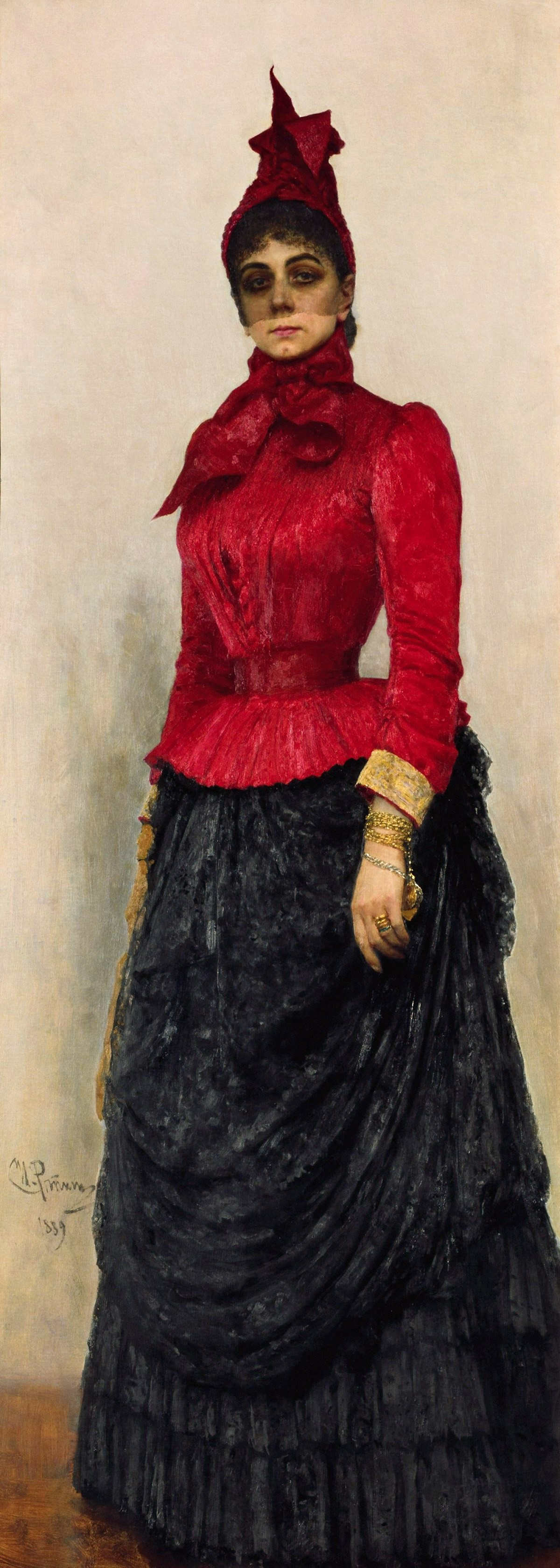 00 Ilya Repin. A Portrait of Baroness Varvara Iskul von Gildebrandt. 1889