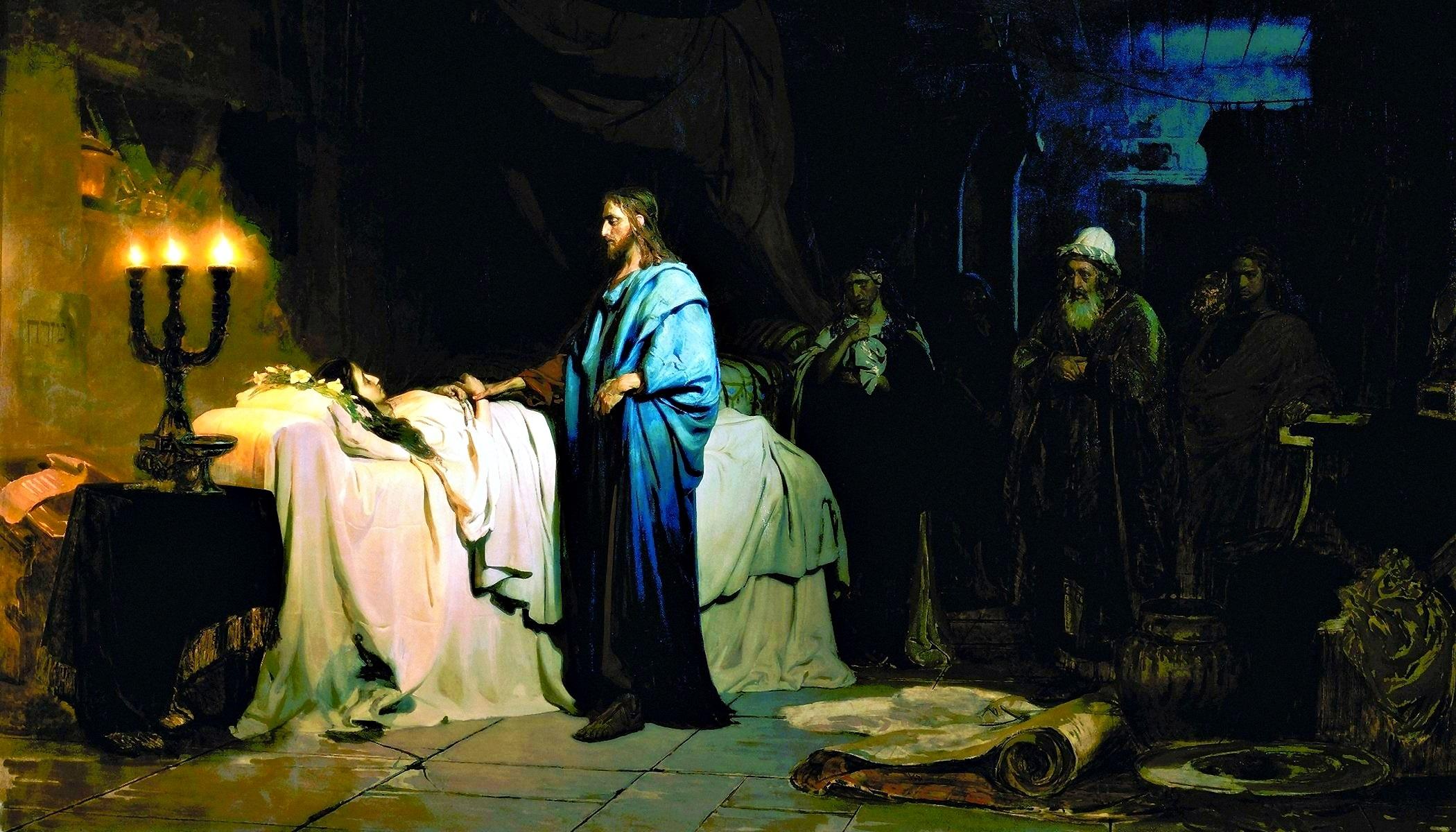 00 Ilya Repin. Christ Raises the Daughter of Jairus. 1871