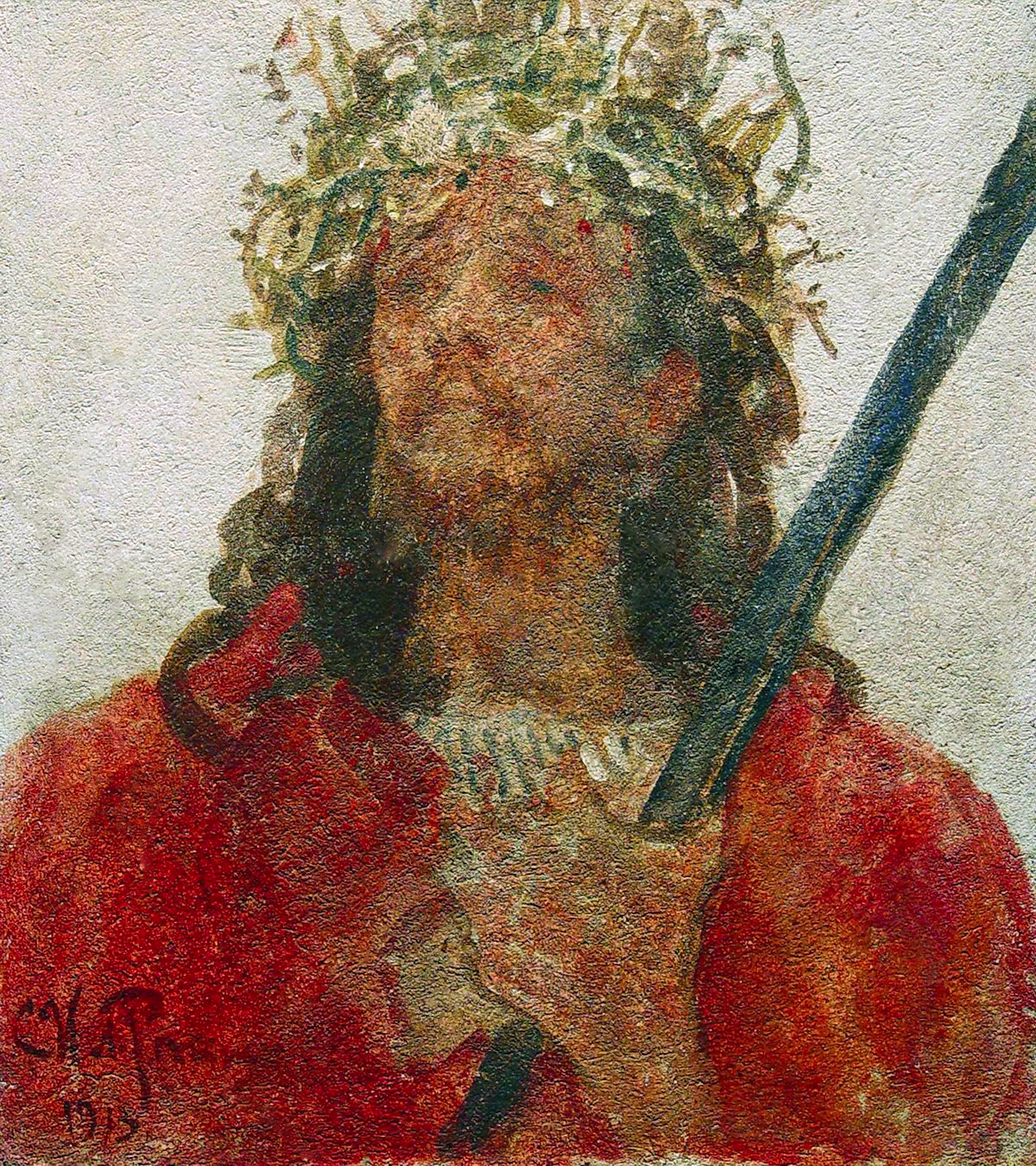 00 Ilya Repin. Christ Wearing the Crown of Thorns. 1913
