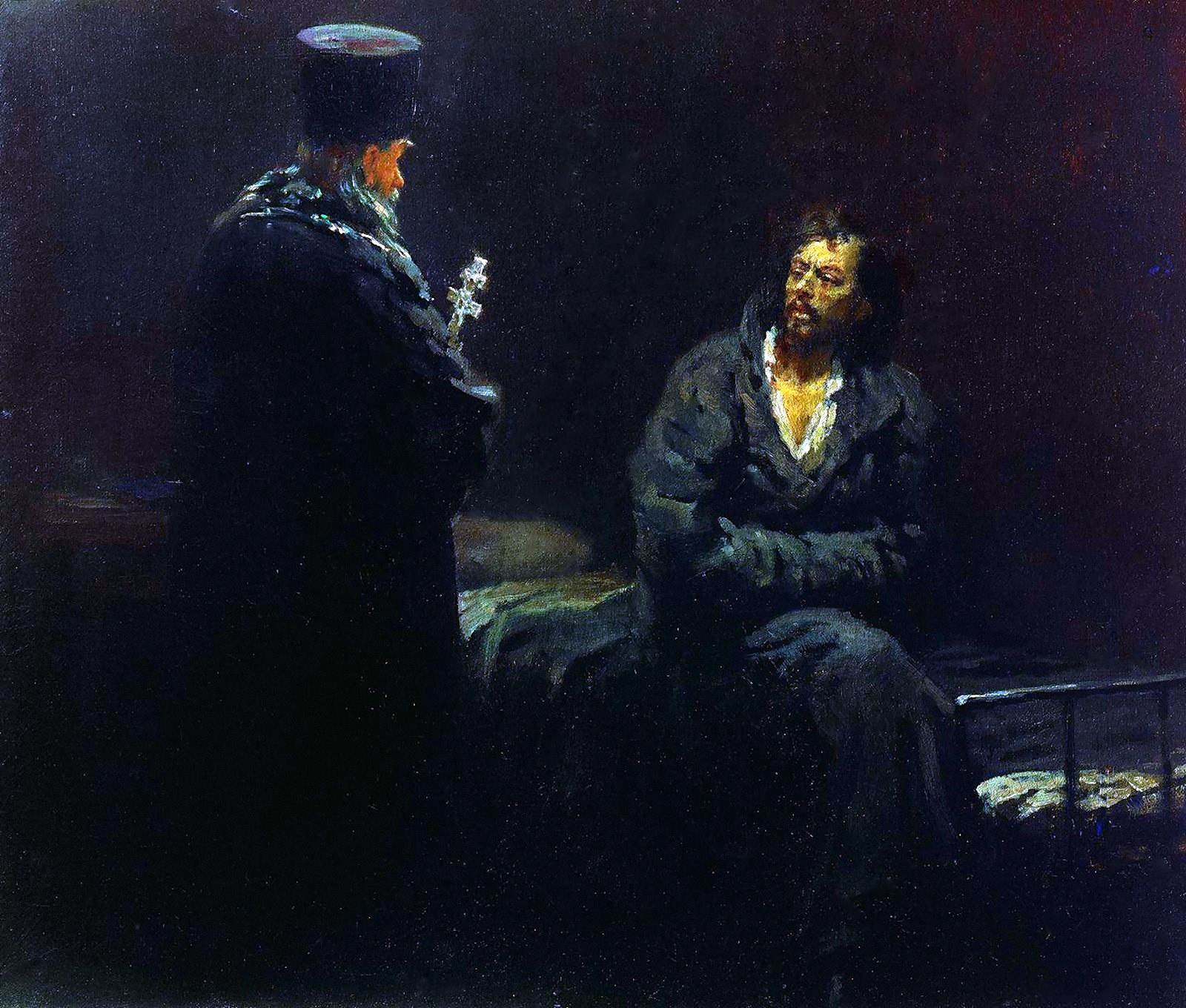 00 Ilya Repin. Refusing Confession (Before the Execution). 1885