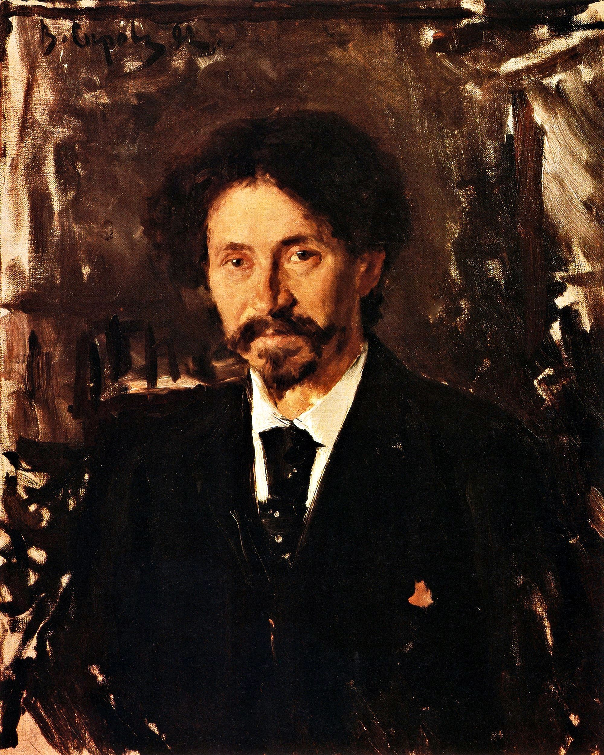 00 Valentin Serov. A Portrait of the Painter Ilya Yefimovich Repin. 1892
