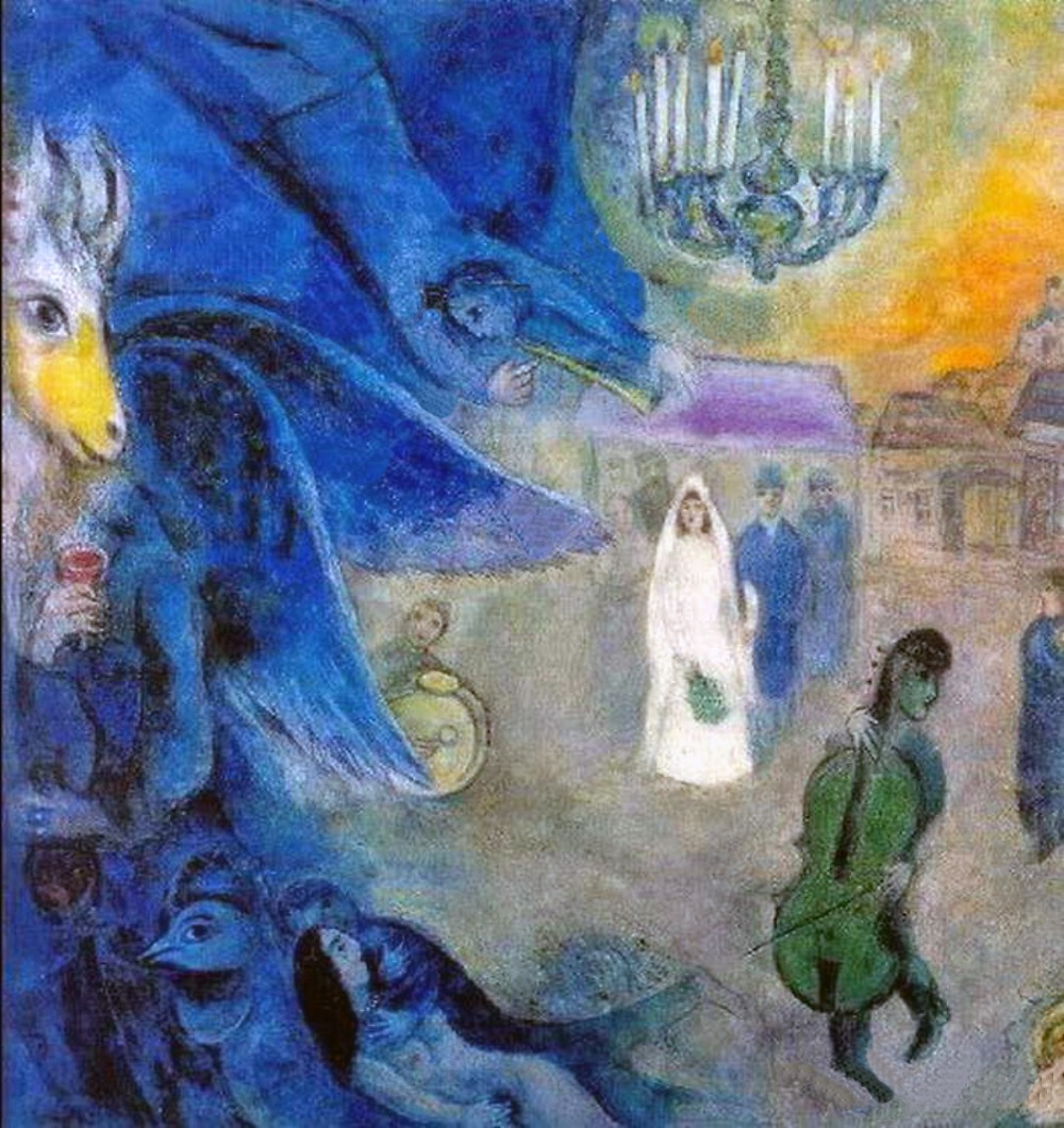 Marc Chagall. Wedding Candles. 1945 | Art and Faith Chagall