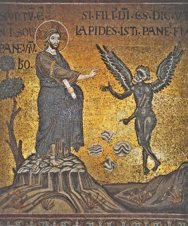 01 Anonymous The Temptation Of Christ Duomo Di Monreale