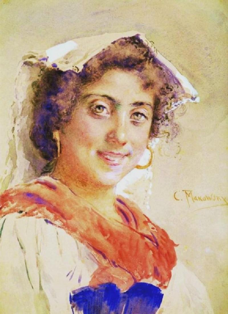 An Italian Woman. 1890s ? konstantin-makovsky-an-italian-woman-1890s