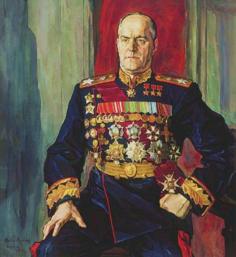 The Republic of Pycheko; History and the Government. Pavel-korin-a-portrait-of-marshal-of-the-soviet-union-georgy-zhukov-1945-e1268436403715