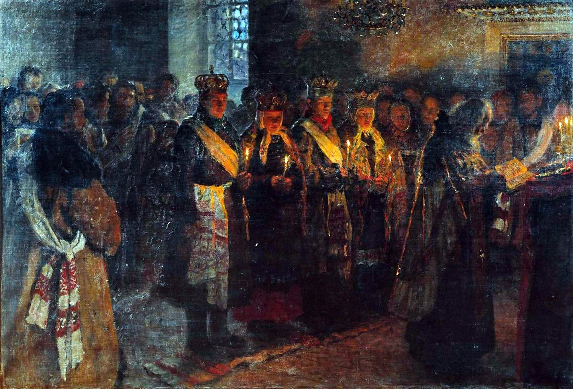 00 Nikolai Bogdanov-Belsky. A Wedding. 1904