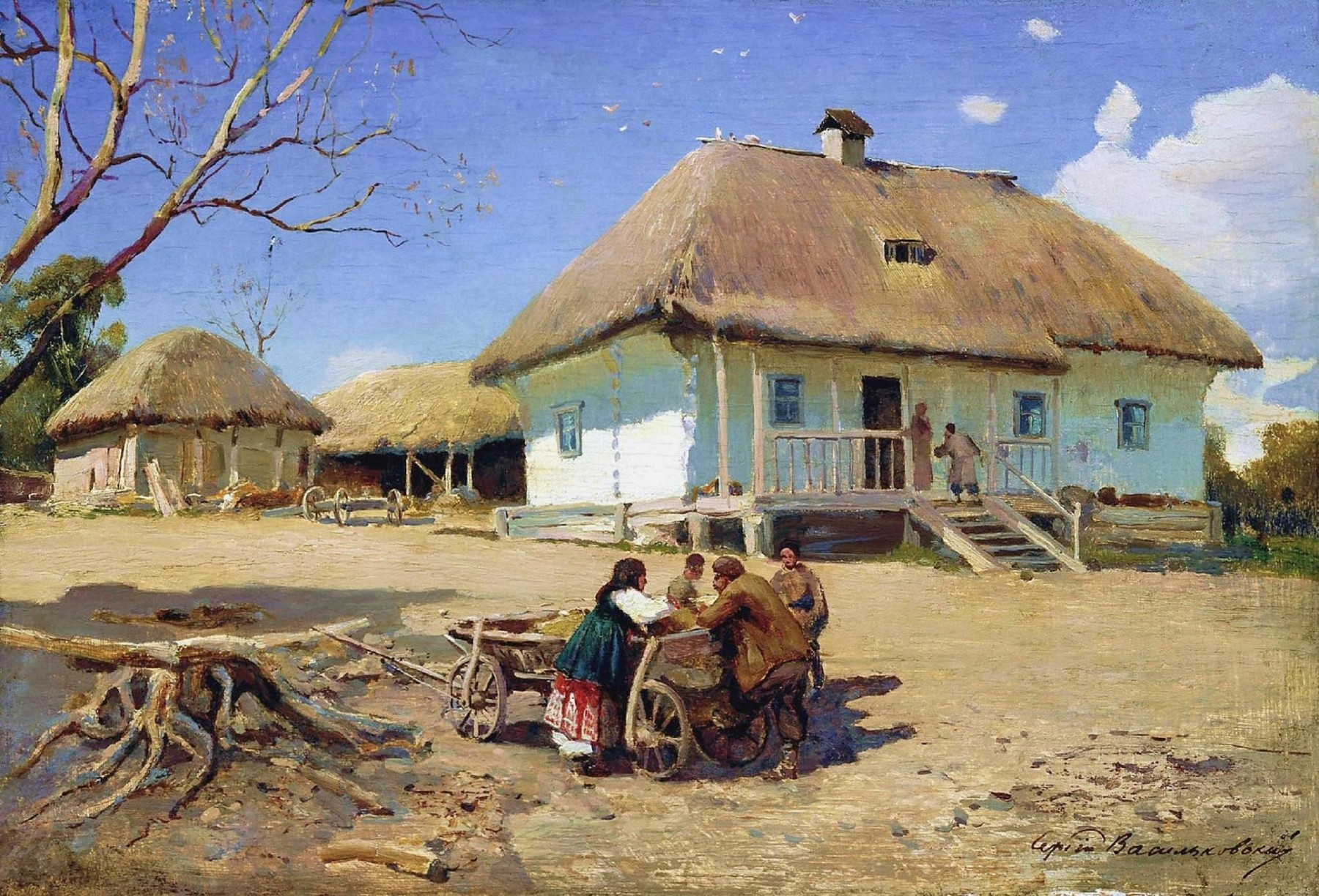 sergei vasilkovsky. a cossack village | art and faith