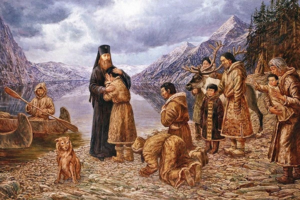 00 The Farewell to America of Patriarch St Tikhon. Fillip Moskvitin. 2003