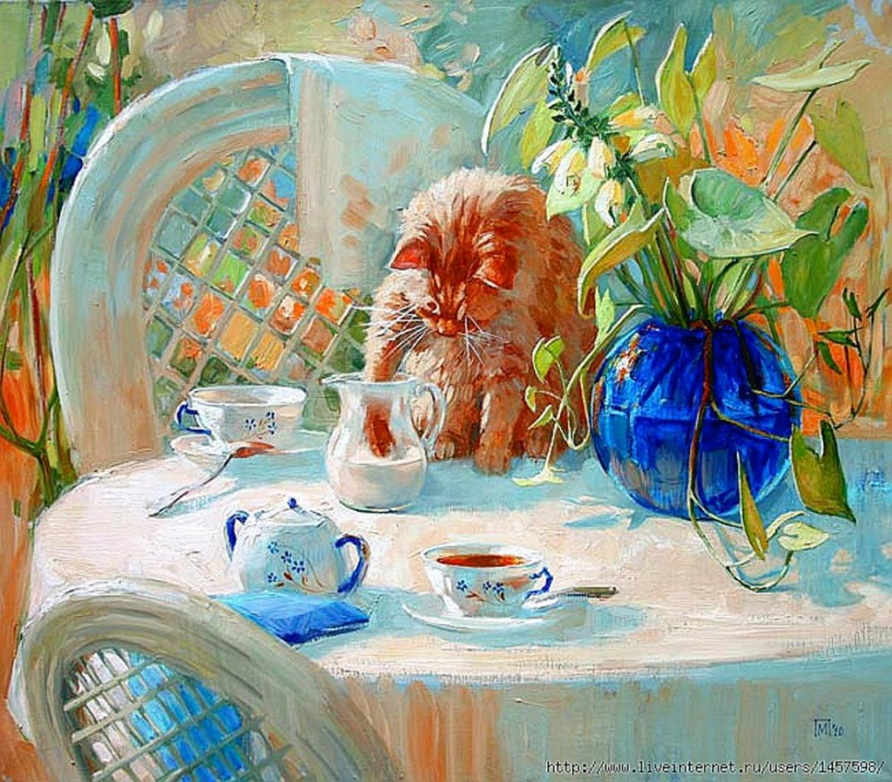 Maria Pavlova. Tea with Milk. nd