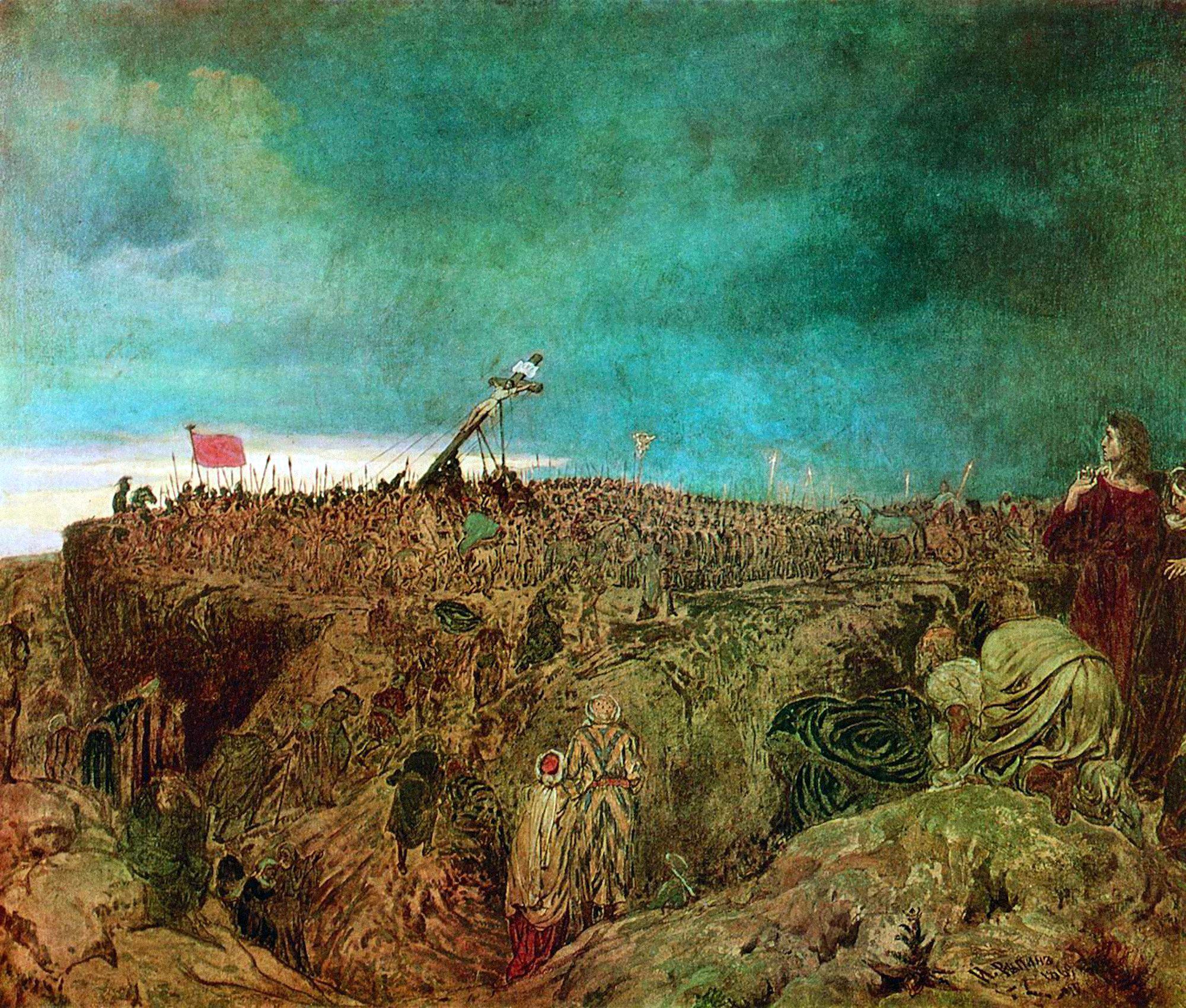 00 Ilya Repin. Golgotha (The Crucifixion of Christ). 1869