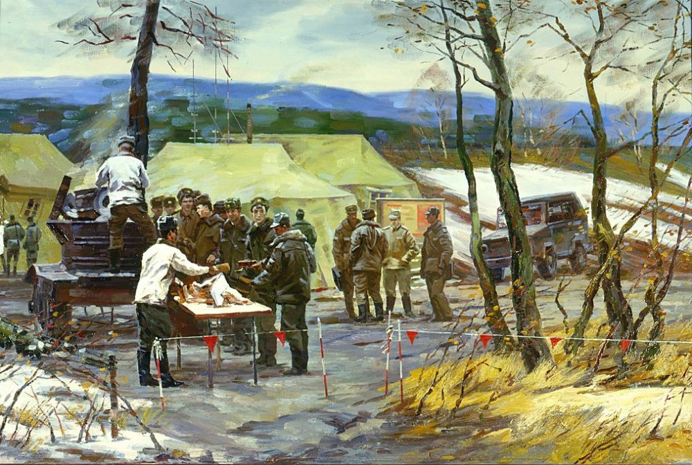A Field Kitchen (Aleksei Evstigeniev, 1990