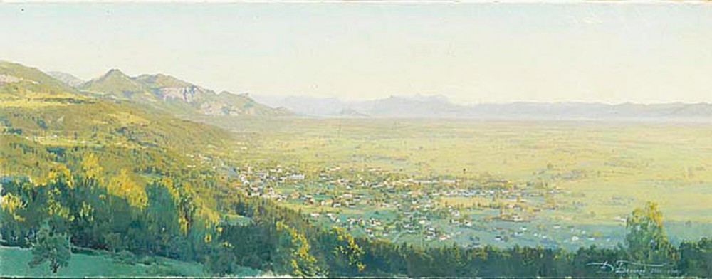 Dmitri Belyukin. The Place of the Alpine Exploits of Suvorov. The Town of Wolfurt. 2000