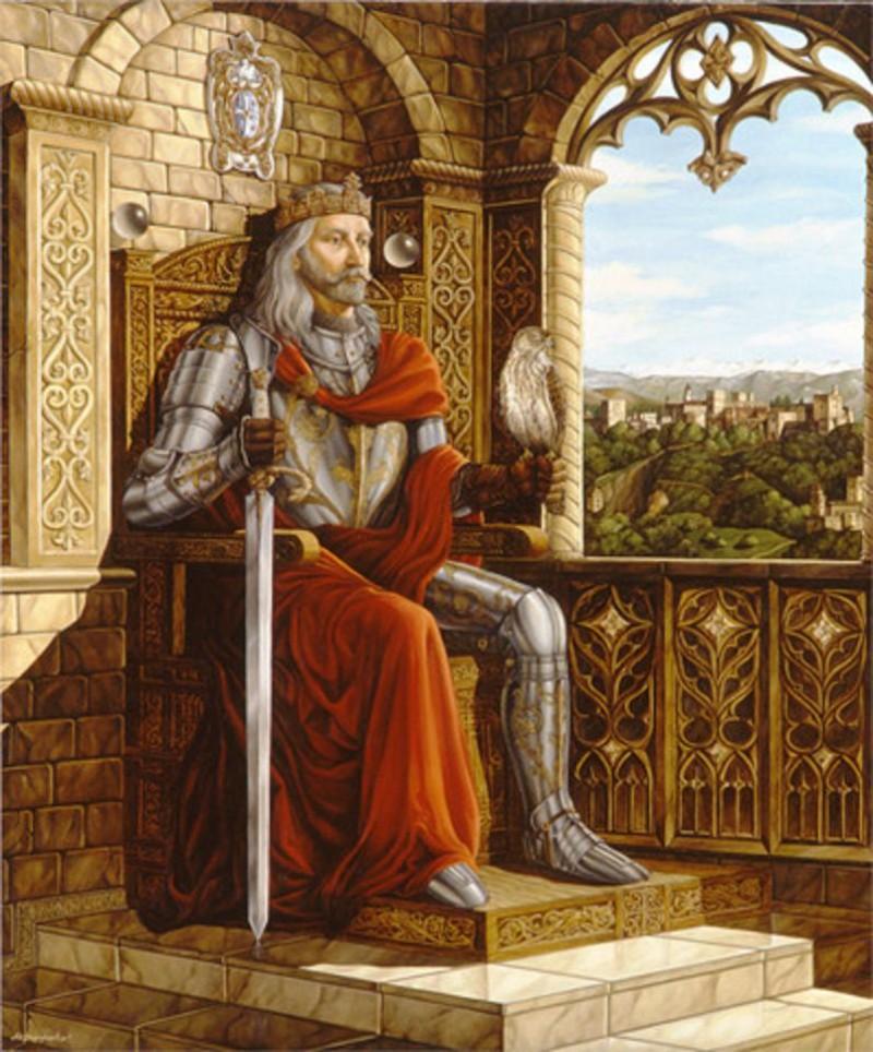 A Portrait Of King Wearing Crimson Mantle 2004 Mikhail Fedorenko