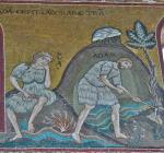 01 Anonymous. Adam and Eve at Labour. Duomo di Monreale. Monreale (Sicily) (IT)