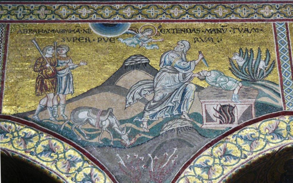 01 Anonymous. St Abraham Sacrifices His Son. Duomo di Monreale. Monreale (Sicily) (IT)
