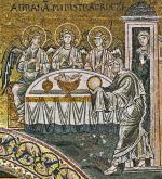 01 Anonymous. The Hospitality of Abraham. Duomo di Monreale. Monreale (Sicily) (IT)