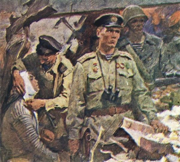 Nikolai Boot. The Novorossisk Landing. Hero of the Soviet Union Captain-Lieutenant V Botylev. undated