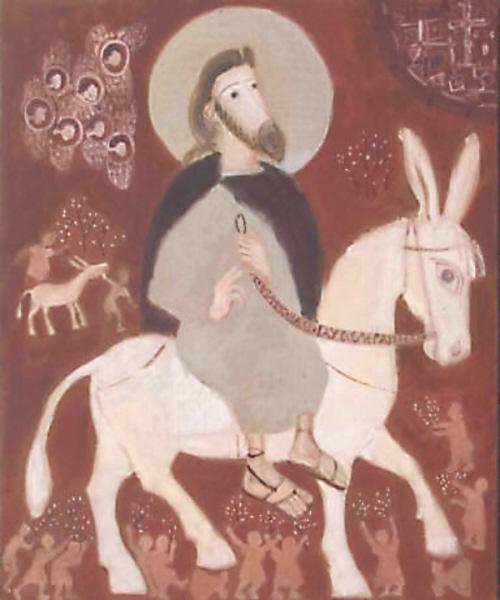 Yelena Cherkasova. The Entrance of the Lord into Jerusalem (2). undated