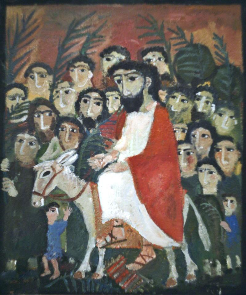 Yelena Cherkasova. The Entrance of the Lord into Jerusalem. undated