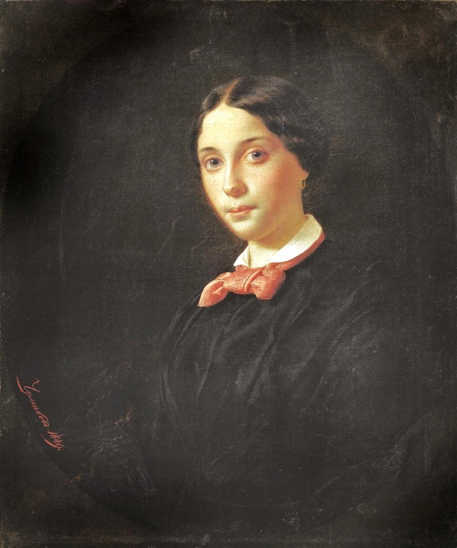 Fyodor Chumakov. A Portrait of Mazarskaya. 1849