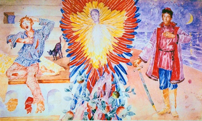 Kuzma Petrov-Vodkin. The Firebird 1918