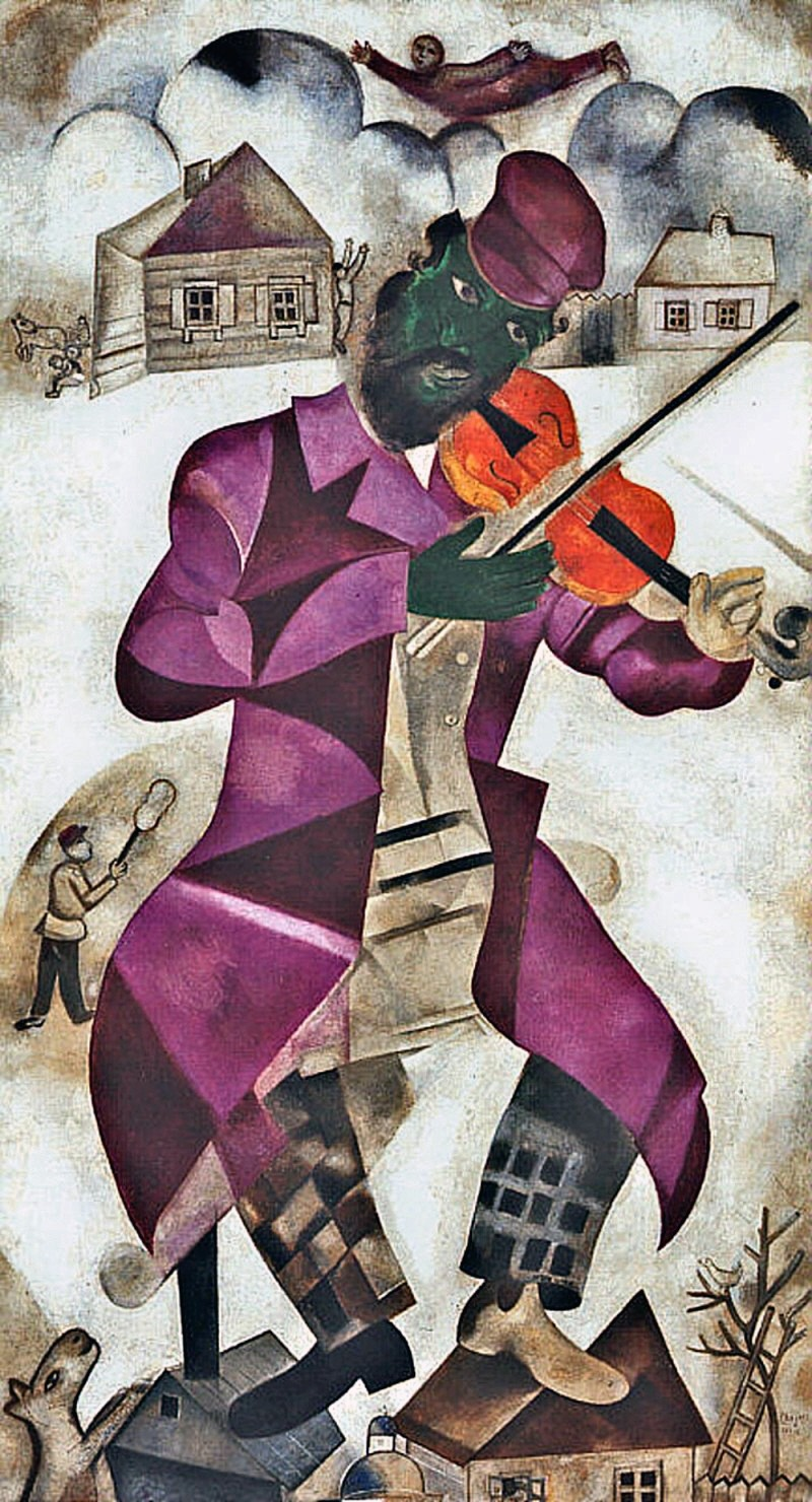 Marc Chagall The Green Violinist 1923 24 Art And Faith