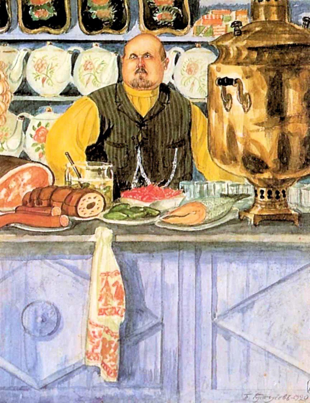 Boris Kustodiev. A Restaurant Owner. 1920