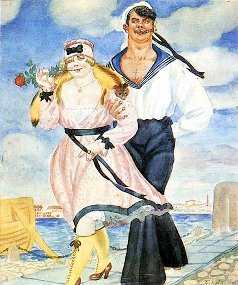 Boris Kustodiev. A Sailor and His Girl. 1920
