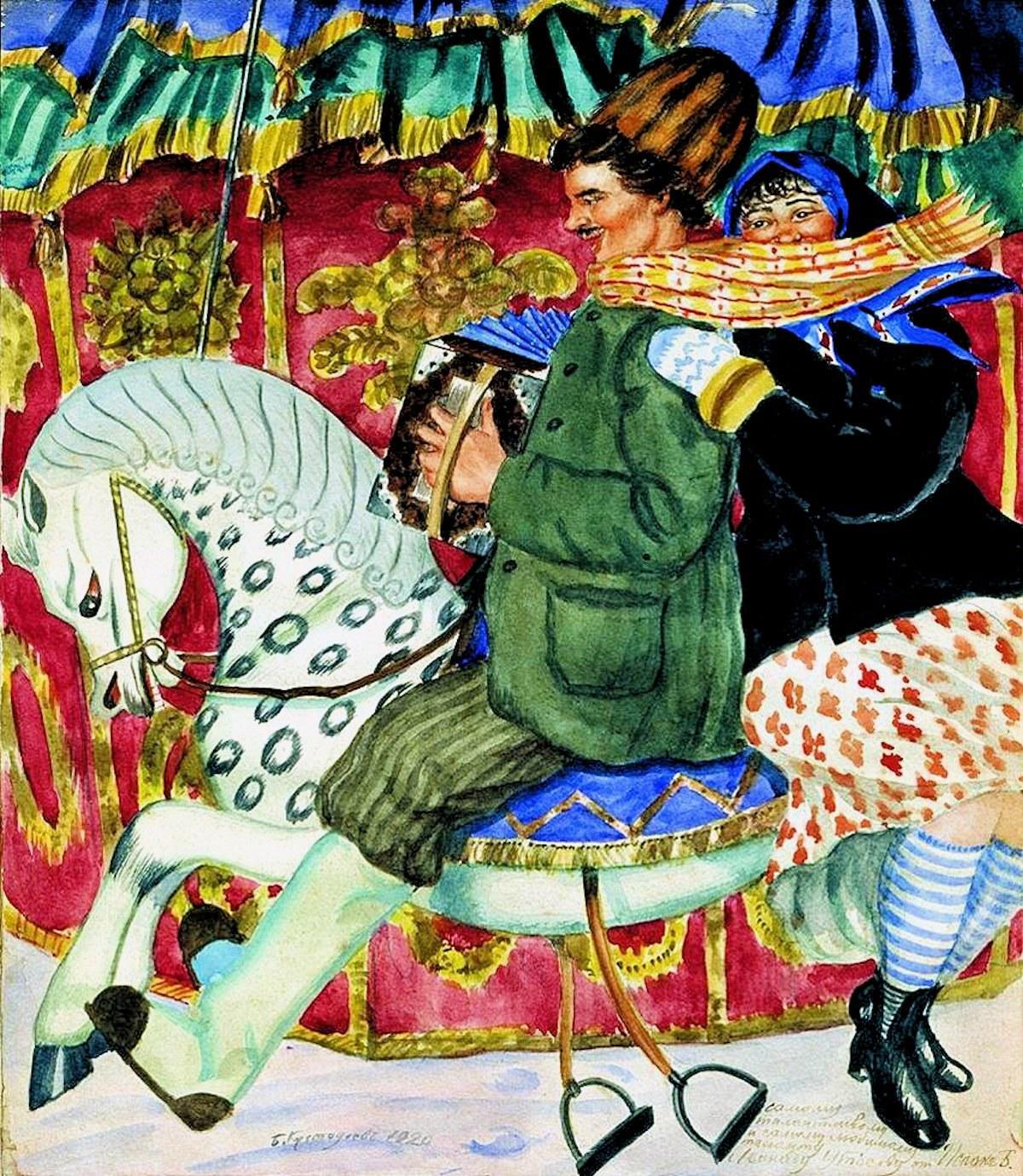 Boris Kustodiev. A Carousel. 1920