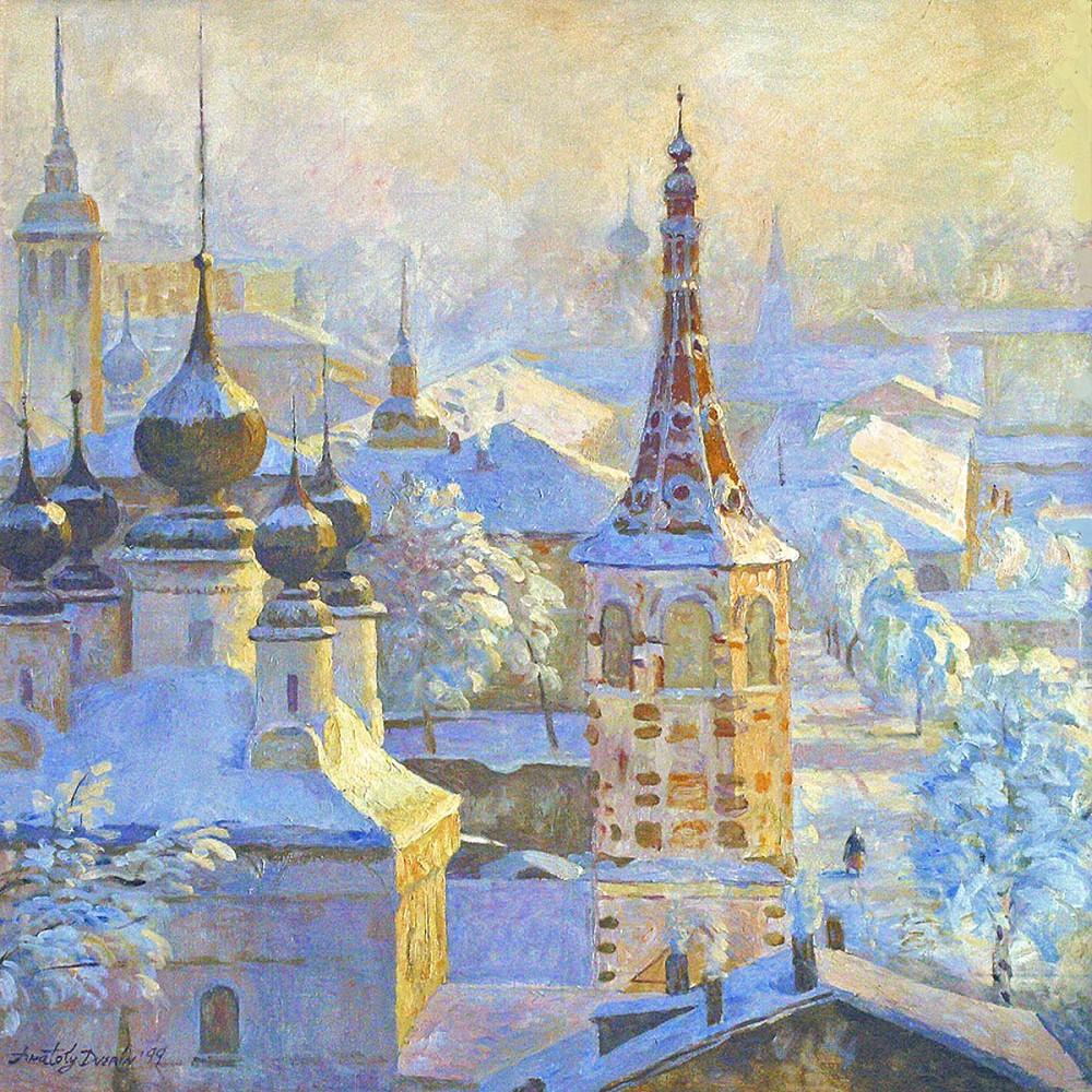 00 Anatoly Dverin. Sunrise in Suzdal. 1999