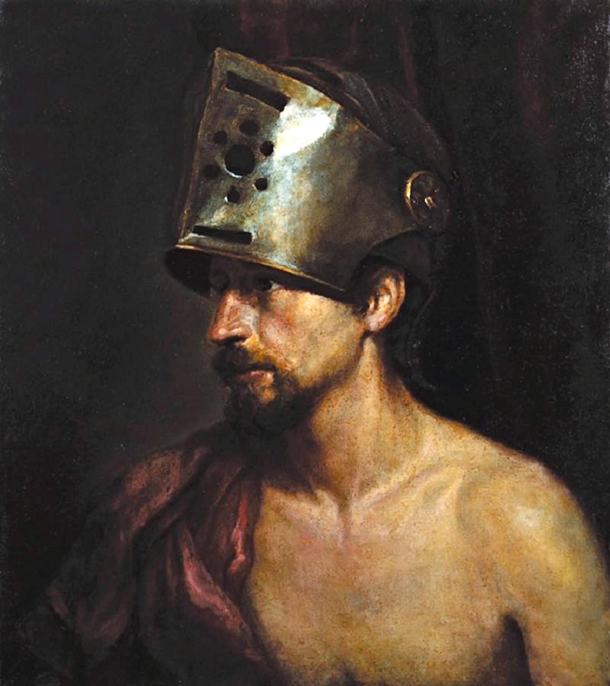 00 Mikhail Shankov. A Naked Man Wearing a Helmet. 1983