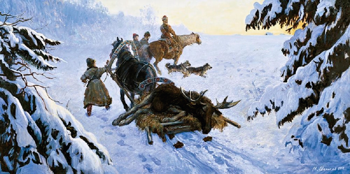 00 Mikhail Shankov. A Winter Hunt. 1998