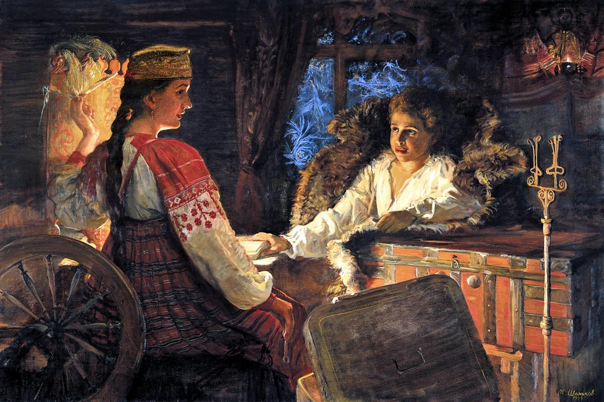 00 Mikhail Shankov. Baba's Stories. 1999