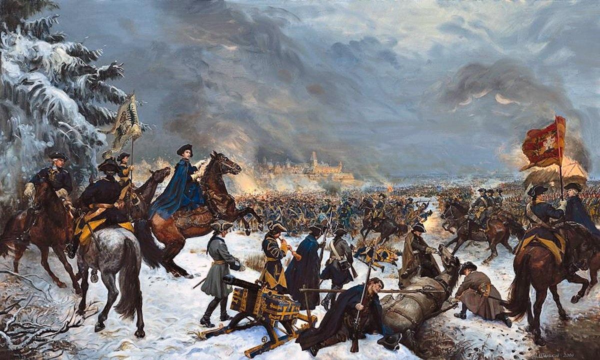 00 Mikhail Shankov. Karl XII in Narva. 1999
