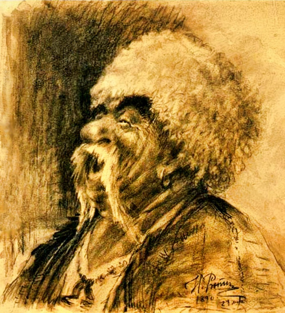 00 Ilya Repin. A Laughing Cossack (a study). 1890. 11.03.14