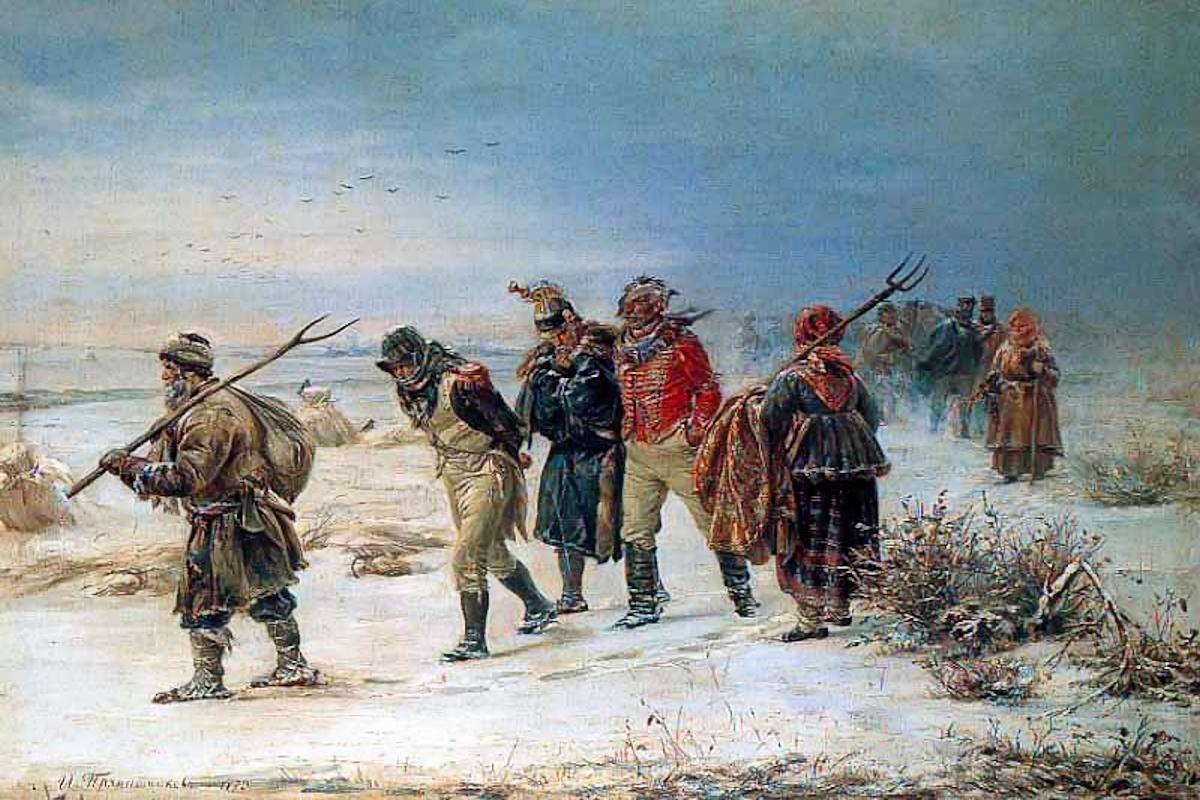 00 Illarion Pryanishnikov. The French Retreat in 1812. 1874