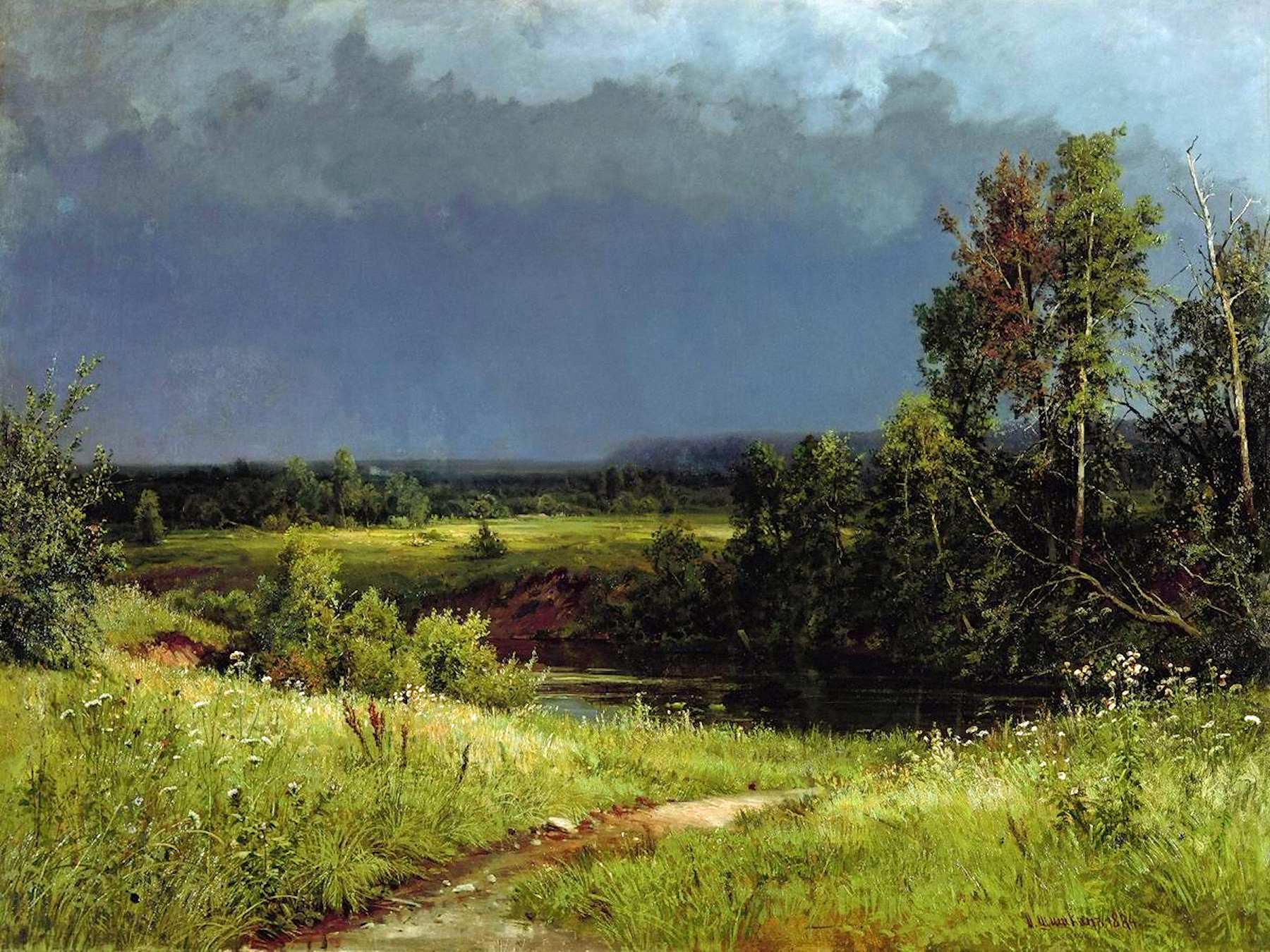 00 Ivan Shishkin. Before the Storm. 1884