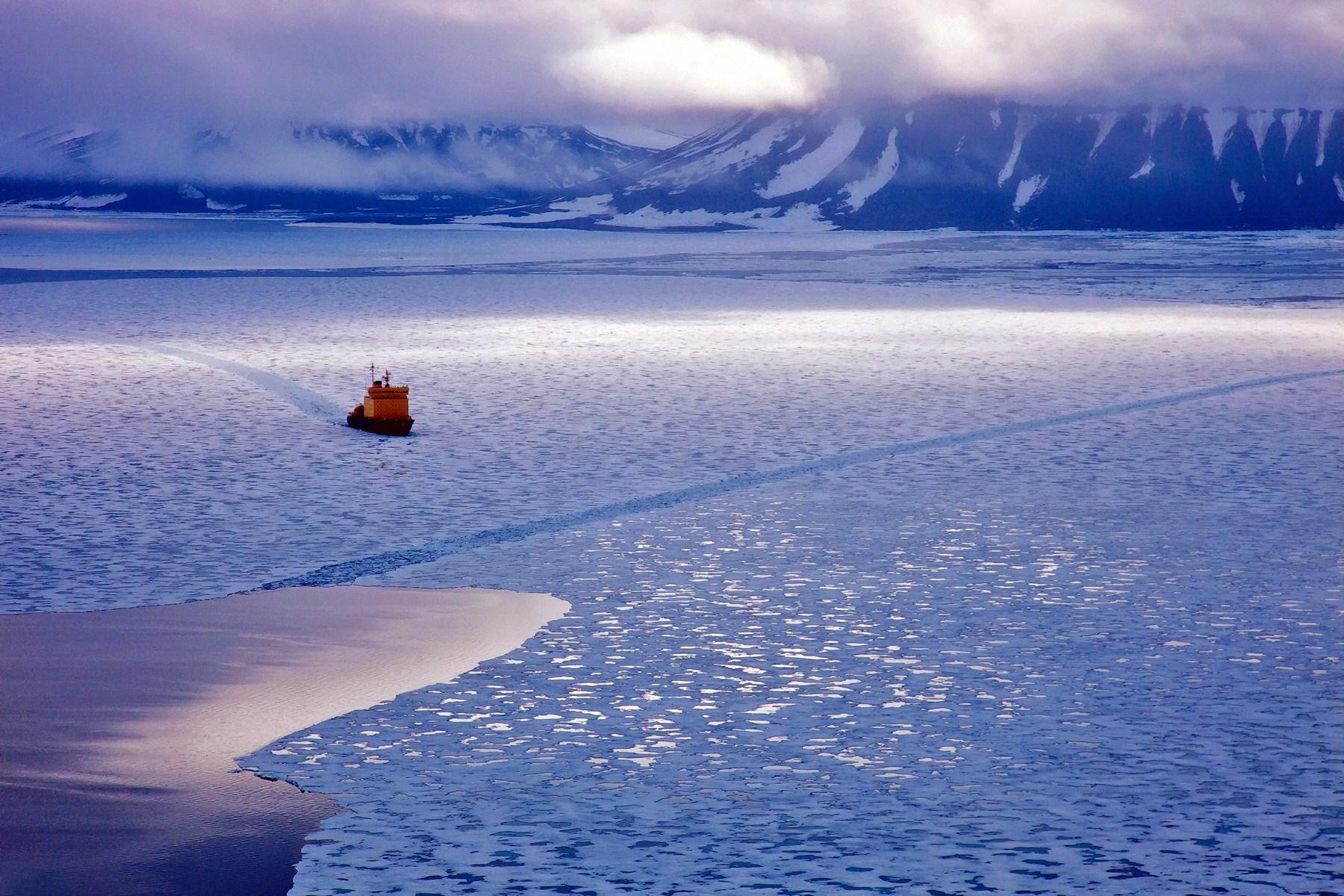 00 Vadim Balakin. The Spirit of Adventure. Icebreaker Kapitan Dranitsyn in the Far North. Arctic Ocean. Frants Iosif Land. 2015