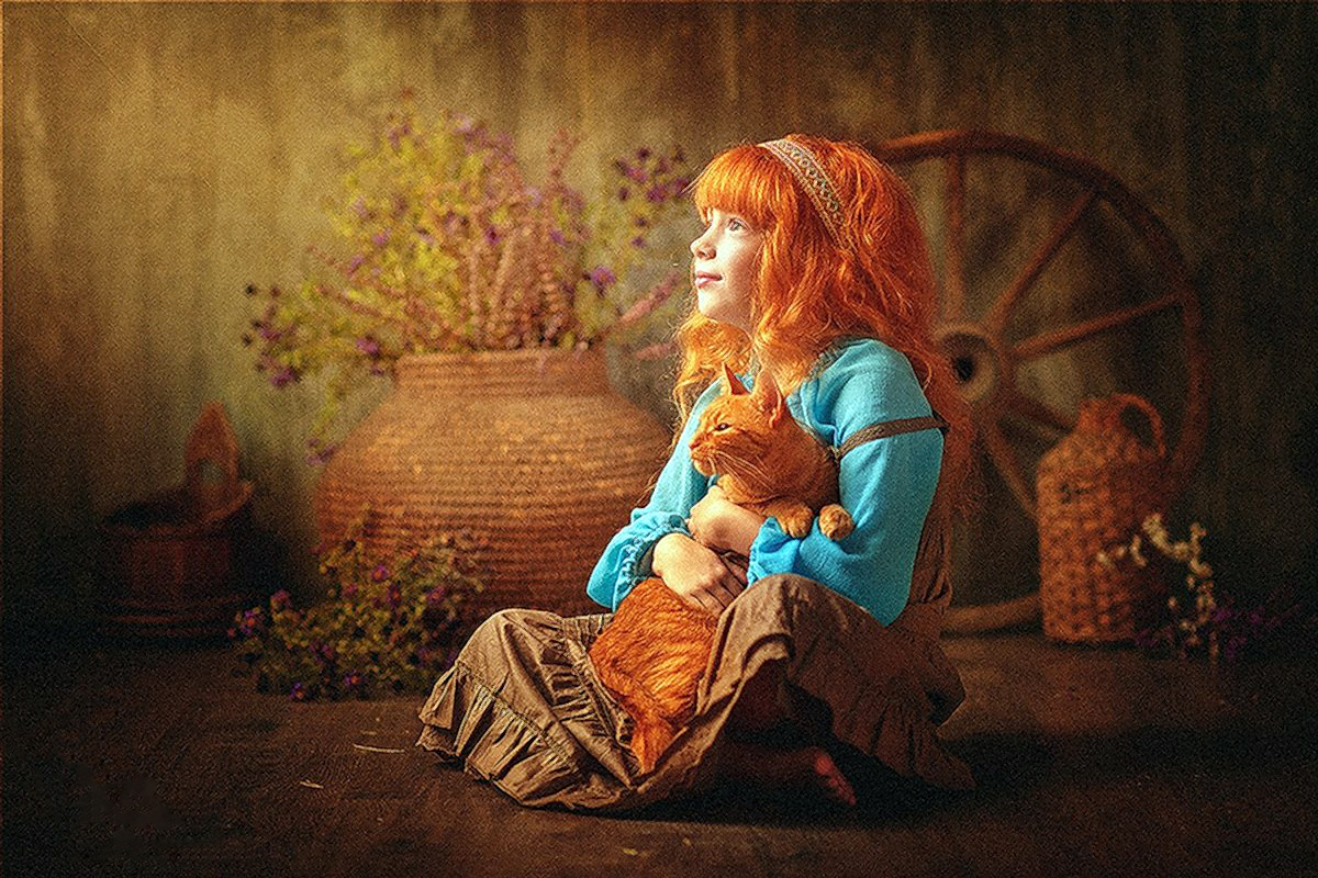 00 Karina Kiel. Girl with Cat
