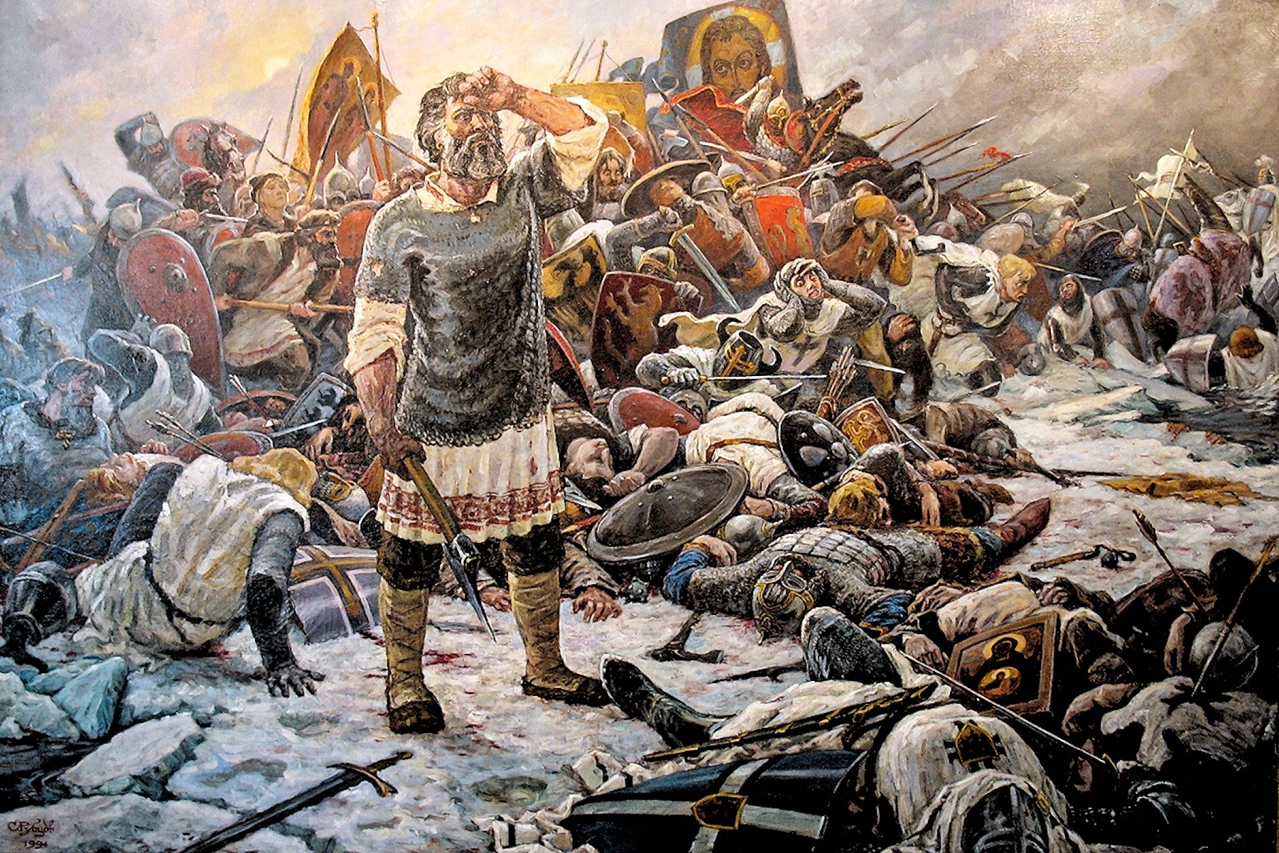 00 Sergei Rubtsov. How Long, O Lord (The Battle on the Ice). 1994