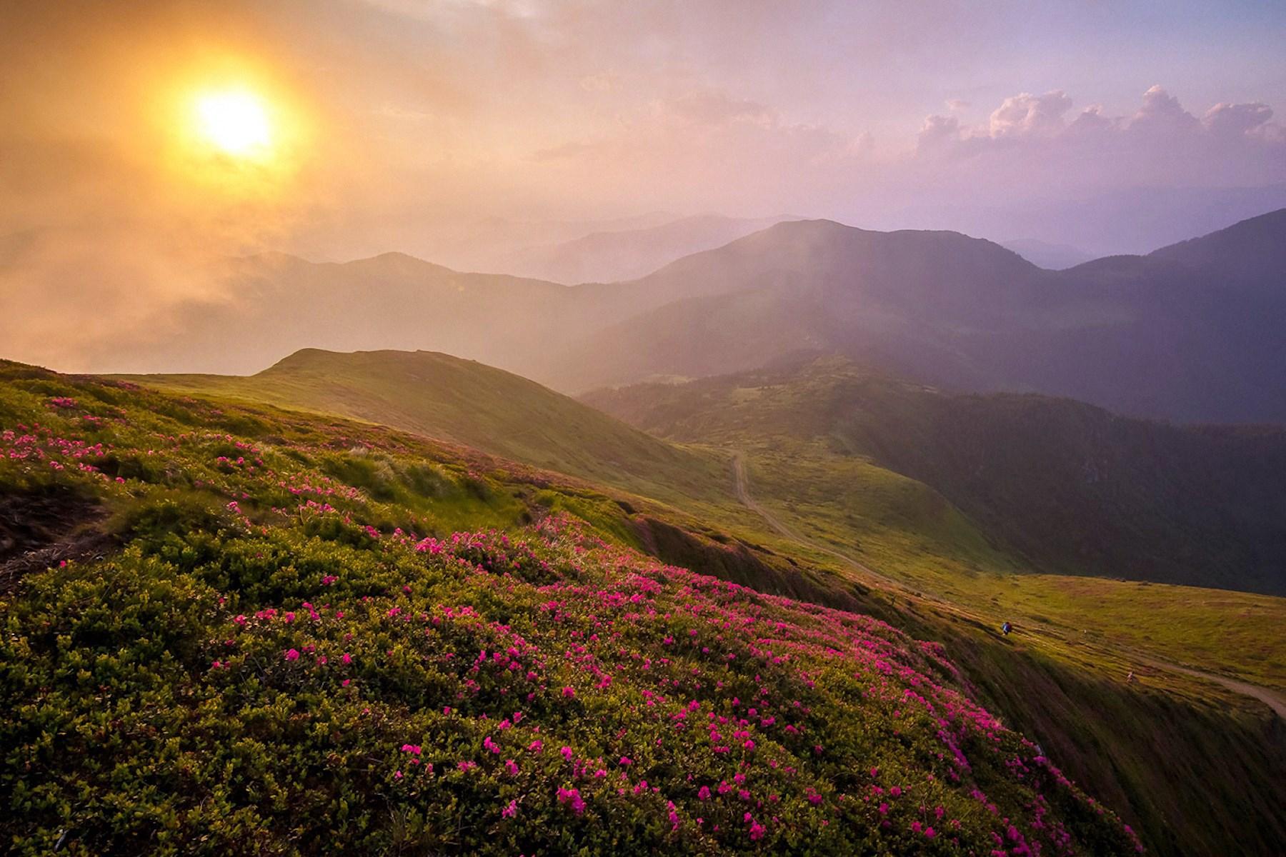 00 Sunset in the Carpathians. Sergei Srednitsky. 2015