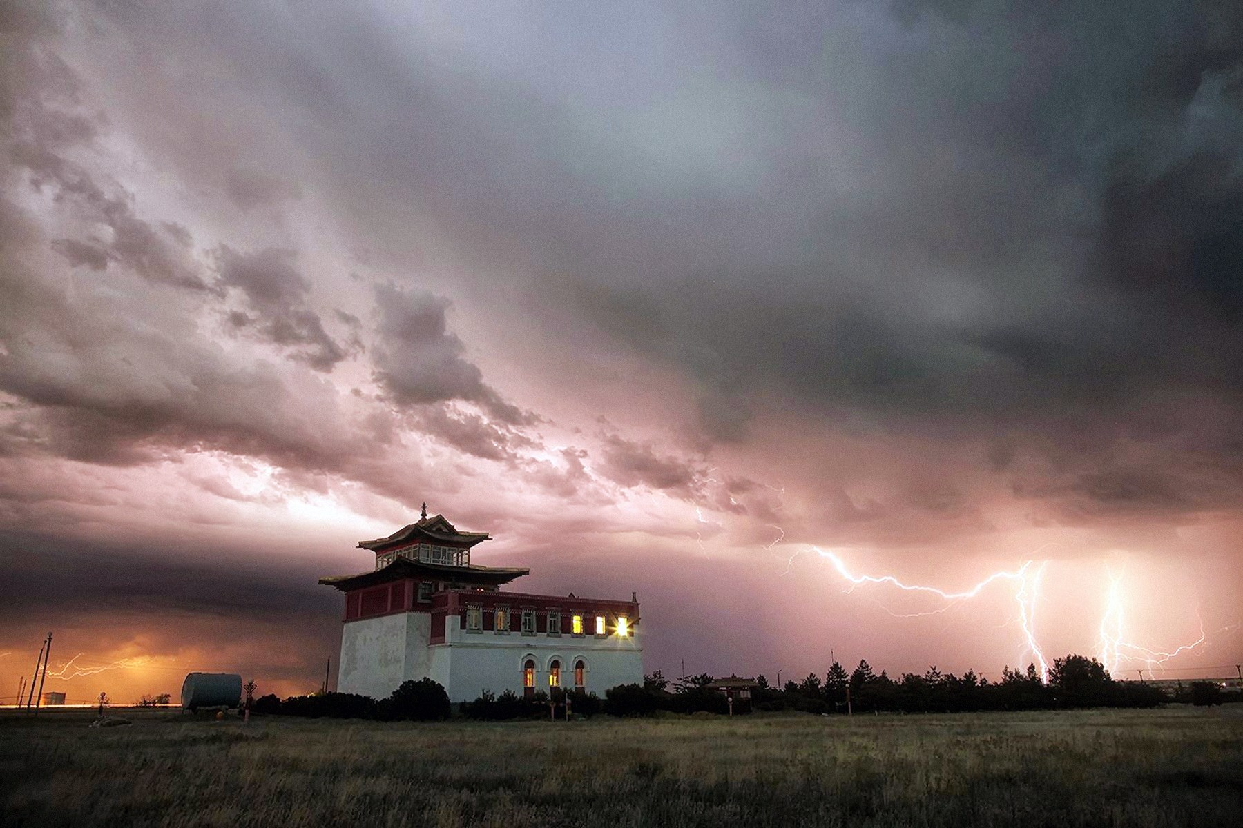 00 Andrei Akuginov. Summer Thunderstorm in Kalmykiya. 2015