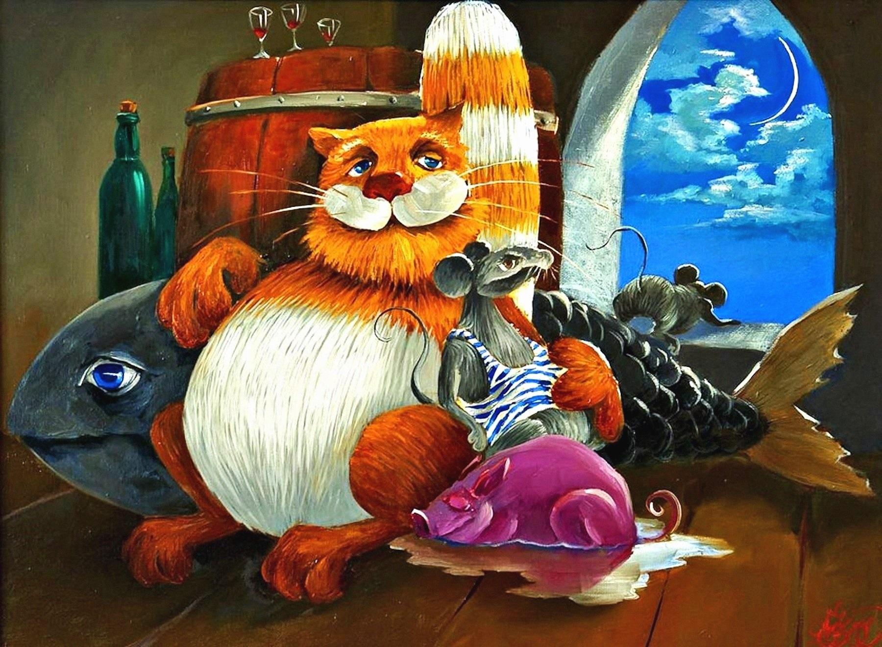 00 Anton Gortsevich. Cats 02. undated